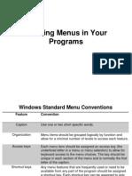 Creating Menus in Your Programs