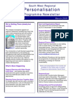 Personalisation Programme Newsletter March 2009 We'Re Getting There (Slowly