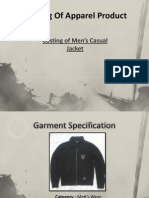 Costing of Men's Casual Jacket