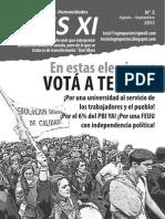 Boletín Tesis XI especial elecciones univ