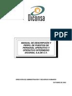 Manual de Descripción y Perfil de Puestos de Personal Operativo y Operativo Intermedio