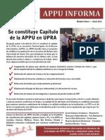 Se constituye Capítulo APPU Arecibo Bole 1 Abril 2013