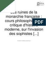 les ruines de la monarchie française 2