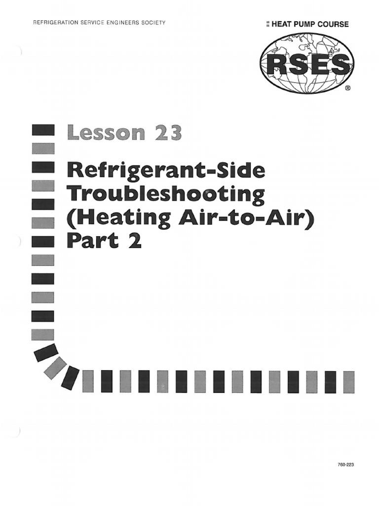 Heat Pump 23 Refrigerant-side Troubleshooting Heat Air-To
