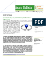 India Healthcare Bulletin - March 2013