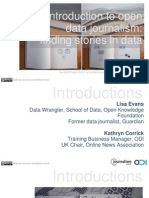 Introduction to open data journalism