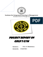 Project report on Gold's gym
