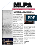 Midwest Labor Press Association Call and Newsletter
