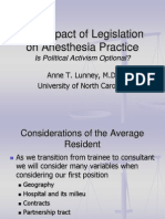 The Affect of Legislation on Anesthesia Practice