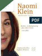 Naomi Klein - biografie en bijdrage aan het reclamevak