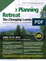 33rd Annual Estate Planning Retreat