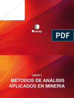 Unidad 2 Metodos de Analisis Aplicados en Mineria