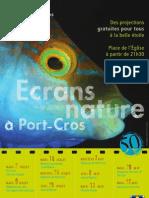 ECRANS NATURE A PORT-CROS - PROGRAMMATION 2013