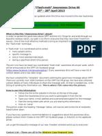 OPPT-SA Awareness Drive 06