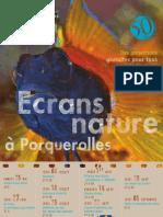 ECRANS NATURE A PORQUEROLLES -  PROGRAMMATION 2013