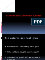 Mg Early Growth of Business