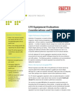 !LTE Equipment Evaluation Considerations Selection Criteria