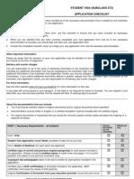 Student Checklist 573