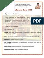 JDRC Kids Camp 2013 Brochure