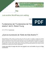 """Fundamentos del """"Fundamentos del """"Estilo de vida alcalino"""" del Dr. Robert Young   Maestroviejo's Blog"""