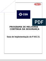 Manual de implantação do PMCS