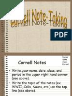cornellnotes -student ppt