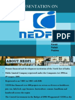 Presentation on activites of NEDFI
