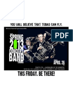 That Spring 2013 Concert Band Thing (B Flyer)