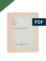 La Vie Comme Idéal, par J. Krishnamurti