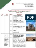 Program D 9 Jours Ouzbekistan Circuit Classique