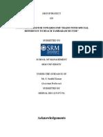 marketing project report on consumer behavior