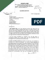 Sudipta Sen Letter to Cbi 18 Page