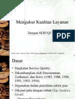 Materi MPP Mengukur Kualitas by SERVQUAL