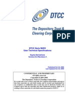 DerivSERV Technical Specification - Equity Derivatives v6.0 Revision 4