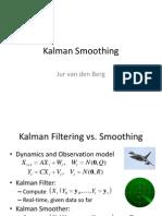 Kalman Smoothing