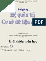 THAMKHAO.vn 3326 Bai Giang Access 2007