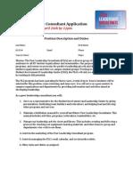 Peer Leadership Consultant Application