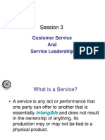 Session -Customer Service & Service Leadership