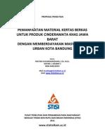 Proposal Penelitian Pemanfaatan Kertas Bekas by Pratiwi