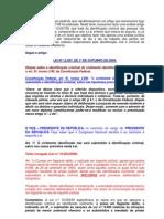 Lei nº 12037 Comentada - Lei de Identificação Criminal