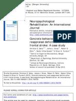 Concrete Behaviour and Reappraisal Impairment (Salas Et Al., 2013)