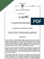 decreto 702 - 2013