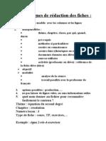Consignes de rédaction des fiches