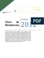 Clase de Membresía Mayo de 2012