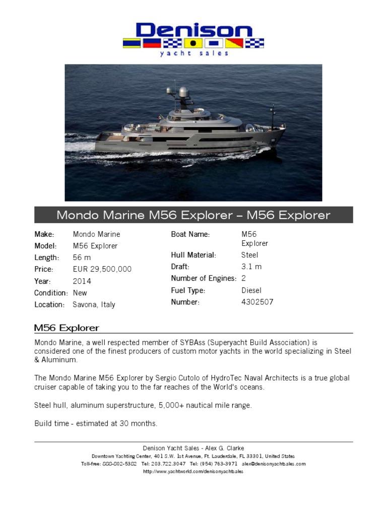 56M Mondo Marine 2014   Yacht   Deck (Ship)