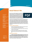 2013 G8 Sexual Violence in War Policy Brief