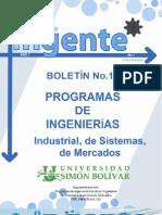 BOLETÍN INGENTE EDIC. No 1.