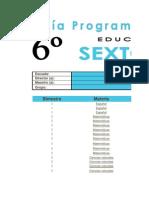 Avance Programático Anual 6º (5 Bloques)