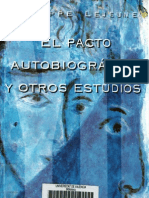Philippe Lejeune - El pacto autobiográfico y otros textos