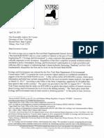 NYPIRG to Gov Cuomo E & E Fracking April 24, 2013